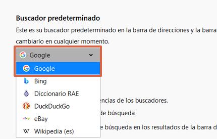 Cómo poner o establecer a Google como tu buscador predeterminado desde Firefox paso 4