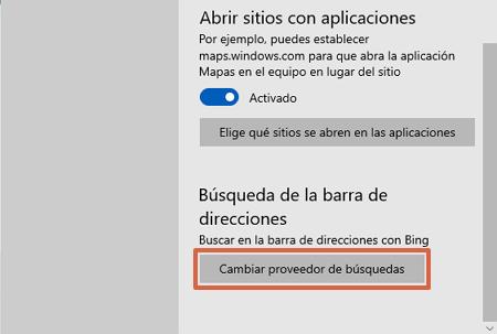 Cómo poner o establecer a Google como tu buscador predeterminado desde Microsoft Edge paso 5