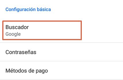 Cómo poner o establecer a Google como tu buscador predeterminado desde un Android paso 4