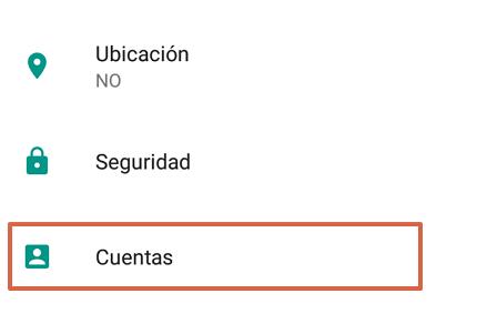 Cómo quitar una cuenta de Google de tu móvil Android paso 2