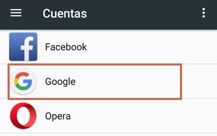 Cómo quitar una cuenta de Google de tu móvil Android paso 3