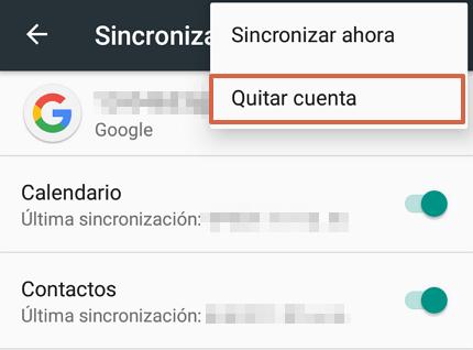 Cómo quitar una cuenta de Google de tu móvil Android paso 6