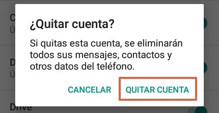 Cómo quitar una cuenta de Google de tu móvil Android paso 7