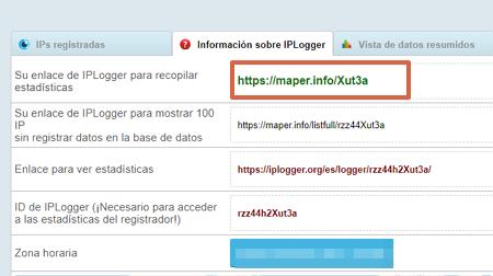 Cómo rastrear en WhatsApp utilizando IPLogger paso 4