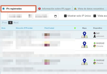 Cómo rastrear en WhatsApp utilizando IPLogger paso 5