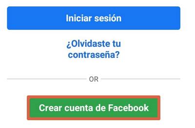 Cómo registrarse en Facebook desde el celular usando la app oficial paso 2