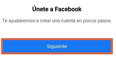 Cómo registrarse en Facebook desde el celular usando la app oficial paso 4