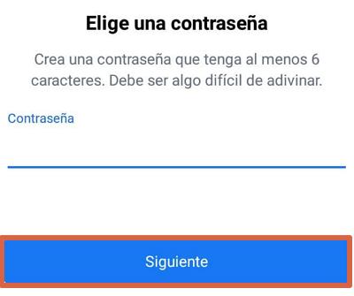 Cómo registrarse en Facebook desde el celular usando la app oficial paso 7