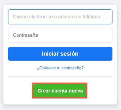 Cómo registrarse en Facebook desde el ordenador paso 2