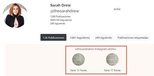 Ejemplo de cómo ver las historias de Instagram utilizando SmilHub