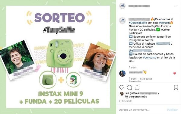 Tipos de sorteos en Instagram con Hashtags.