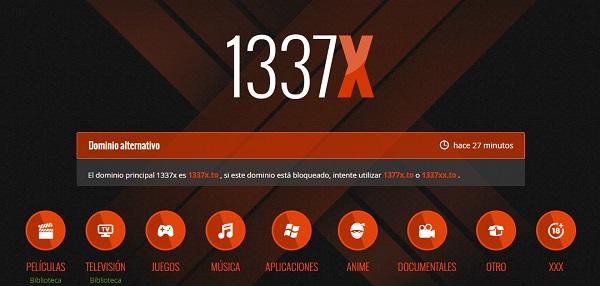 1337x como página alternativa a DivX a Tope