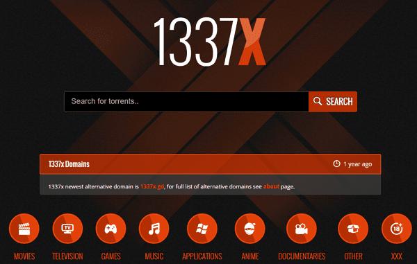 1337x como página alternativa a DonTorrent