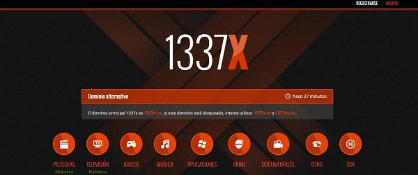 1337x como página alternativa a TodoTorrents