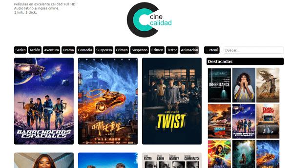 Cine Calidad como página alternativa a DivX a Tope