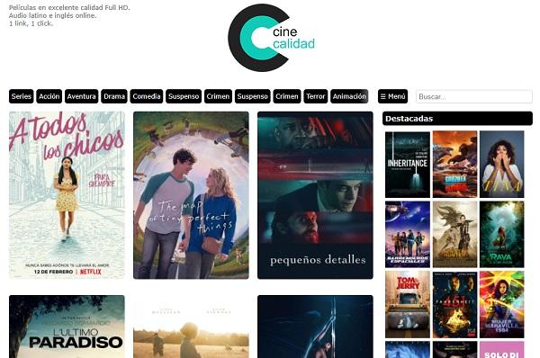 Cine Calidad como página alternativa a TodoTorrents