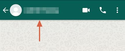 Cómo bloquear un contacto en WhatsApp paso 2