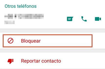 Cómo bloquear un contacto en WhatsApp paso 3
