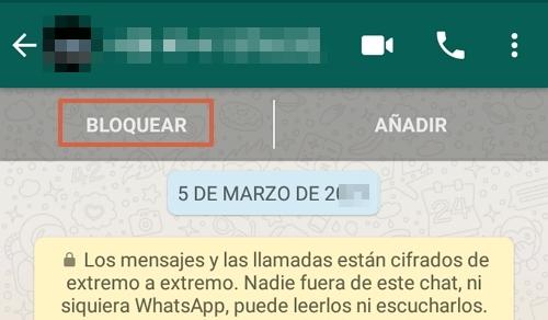 Cómo bloquear un número desconocido en WhatsApp