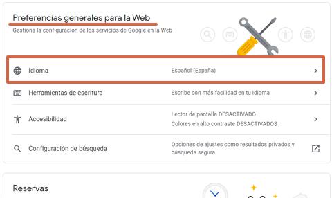 Cómo cambiar el idioma de Google Chrome desde la cuenta de Google paso 3