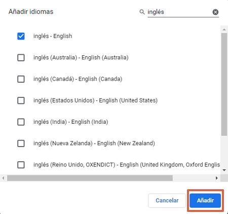 Cómo cambiar el idioma de Google Chrome desde las configuraciones avanzadas paso 5