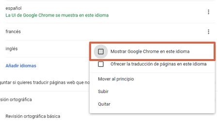 Cómo cambiar el idioma de Google Chrome desde las configuraciones avanzadas paso 6