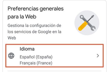 Cómo cambiar el idioma de Google Chrome desde un dispositivo Android paso 5