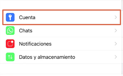 Cómo desbloquear un contacto en WhatsApp desde un iOS paso 2