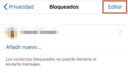 Cómo desbloquear un contacto en WhatsApp desde un iOS paso 5