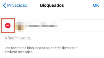 Cómo desbloquear un contacto en WhatsApp desde un iOS paso 6