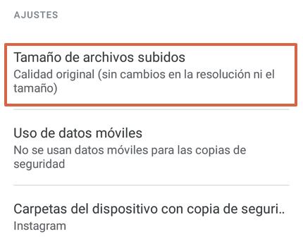 Cómo hacer una copia de seguridad en Google Fotos desde la app paso 4