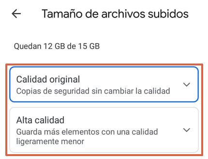 Cómo hacer una copia de seguridad en Google Fotos desde la app paso 5