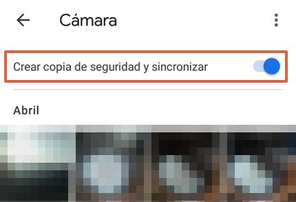Cómo hacer una copia de seguridad en Google Fotos desde la app paso 6