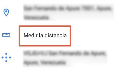 Cómo medir la distancia entre dos puntos en Google Maps desde el móvil paso 3