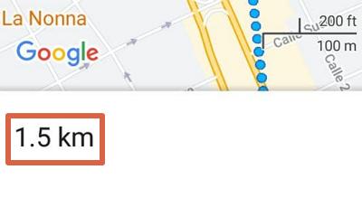 Cómo medir la distancia entre dos puntos en Google Maps desde el móvil paso 5