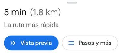Cómo medir la distancia entre dos puntos en Google Maps desde el móvil usando la función cómo llegar paso 5