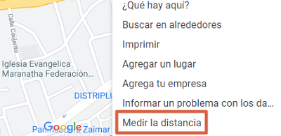 Cómo medir la distancia entre dos puntos en Google Maps desde la PC paso 3