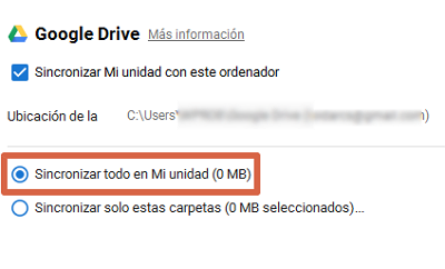 Cómo sincronizar Google Drive con tu PC paso 7