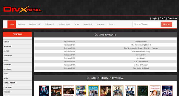 DivxTotal como página alternativa a TodoTorrents