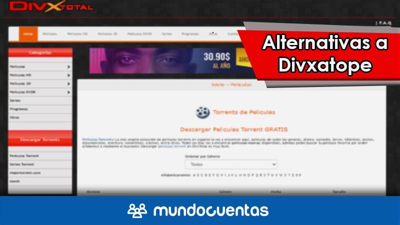 Divxatope ha cerrado o ya no existe Las mejores alternativas