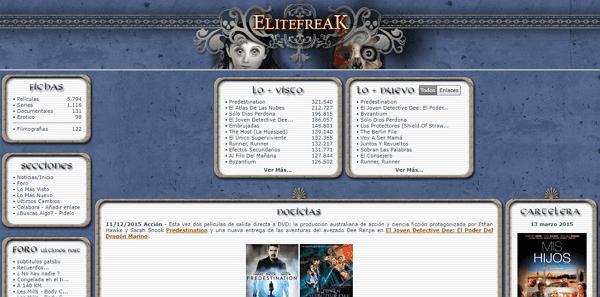 EliteFreak como página alternativa a DivX a Tope