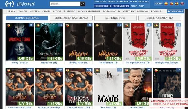 EliteTorrent como página alternativa a DivX a Tope