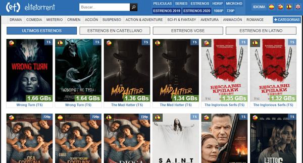 EliteTorrent como página alternativa a TodoTorrents