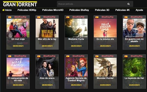 GranTorrent como página alternativa a MejorEnVO