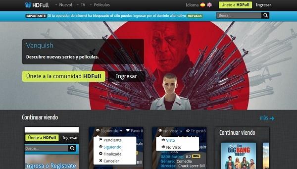 HD Full como página alternativa a Series Danko