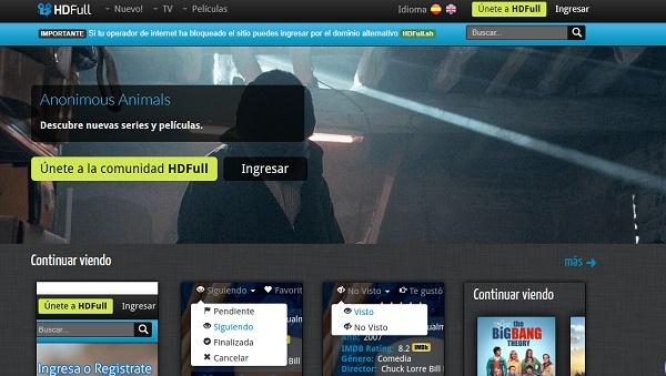 HDFull como página alternativa a MegaDede
