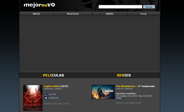 MejorEnVO como página alternativa a TodoTorrents