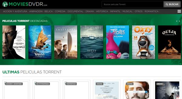 MoviesDVDR como página alternativa a TodoTorrents