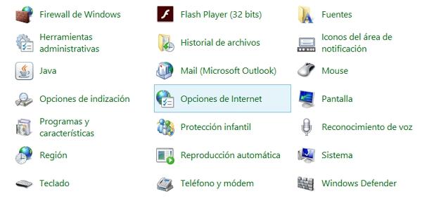 Opciones de Internet en Windows para qué sirven