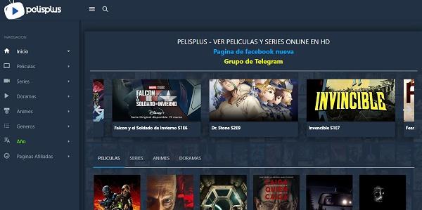 PelisPlus como página alternativa a MegaDede